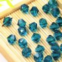 Beads, Auralescent Crystal, Crystal, Teal , Faceted Bicones, Diameter 8mm, 5 Beads, [ZZB050]